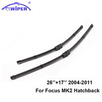 CLWIPER Front And Rear Wiper Blades For FORD FOCUS MK2 MK3 2004 2017 Car Windscreen Wiper