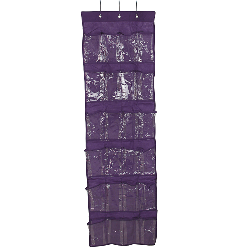 24 Pockets Hanging Organizers Shoes Storage Clear Door Hanging Over ... 2bffad41560