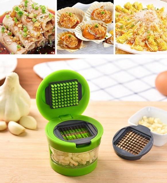 WALFOS hot sales Practical Home Kitchen Tool Kit Garlic Press Chopper Slicer Hand Presser Garlic Grinder Free Shipping