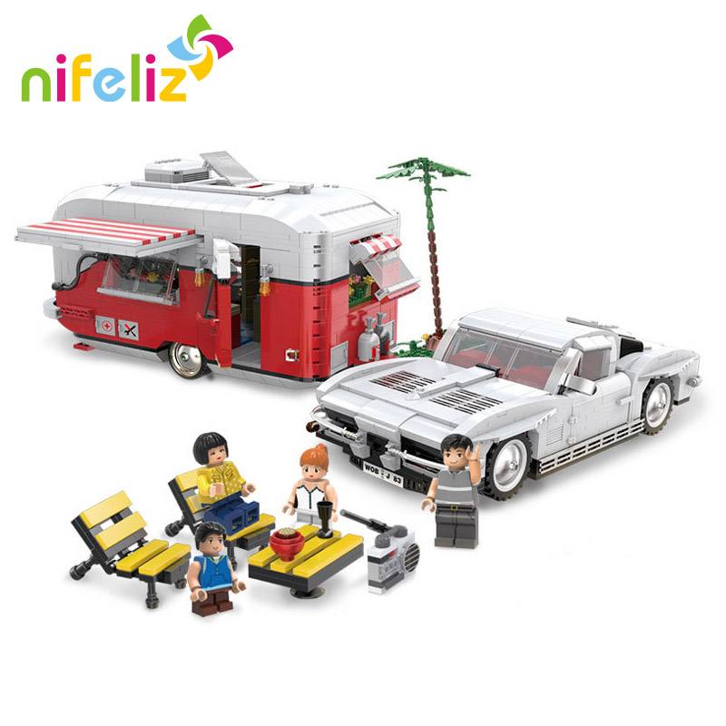 XingBao Dream Car Series RV Car Model DIY Building Blocks Bricks Sets Educational Technic Train Birthday Gift Toys for Children sermoido 02012 774pcs city series deep sea exploration vessel children educational building blocks bricks toys model gift 60095