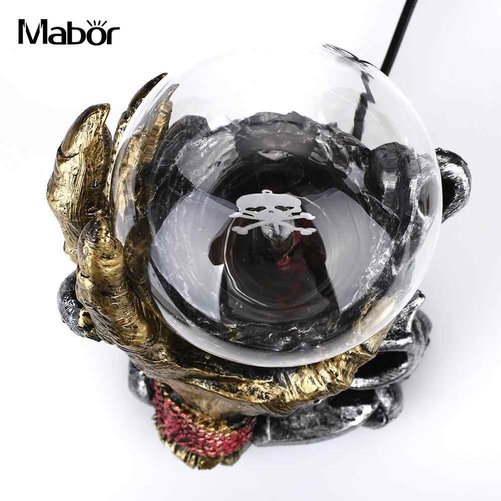 Магический хрустальный свет плазменный шар Хэллоуин 220 в череп ЕС вилка Lightning музыка Сфера настольная Ночная лампа домашний декор новинка подарок