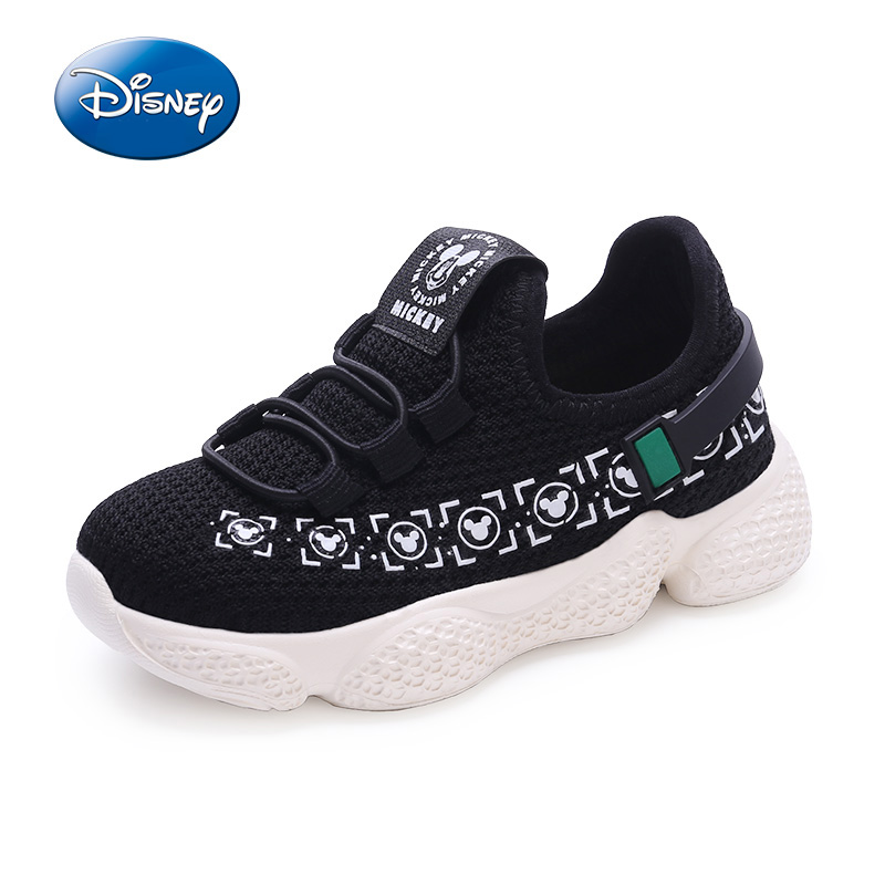 Disney Children Shoes Sport Mickey Shoes Boys Girls Spring Summer Comfort Mesh Breathable Casual Shoes For Kids Size 22-30