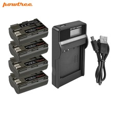 Powtree For Canon 7.2V 2800mAh BP-511 BP 511 BP511 BP511A Digital Camera Battery + LCD Charger 300D 5D 30D 40D G6 90IS