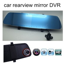 Promo offer car rear view mirror driving recorder 5 inch screen high-definition dual lens electronic  rearview DVR include rear camera