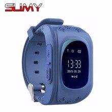 Pegajoso Do Bluetooth Inteligente Relógio Relógio Bebê Q50 Q50 Crianças Relógios Inteligente com Chamada SOS Localizador GPS Chip de Segunda Geração
