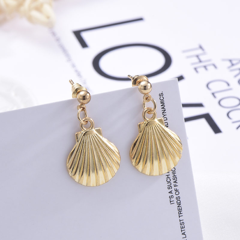 2019 Fashion Bohemian Natural Ocean shell Pendant earrings necklace Anklets For Women Jewelry Set Wholesale NE EA in Jewelry Sets from Jewelry Accessories