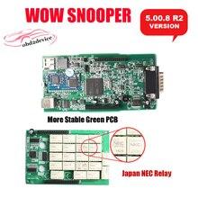 2018nec WOW snooper с Bluetooth Вюрт 5.008 R2 WOW snooper лучше, чем TCS CDP Pro Plus mvdiag для автомобилей и грузовик инструменту диагностики