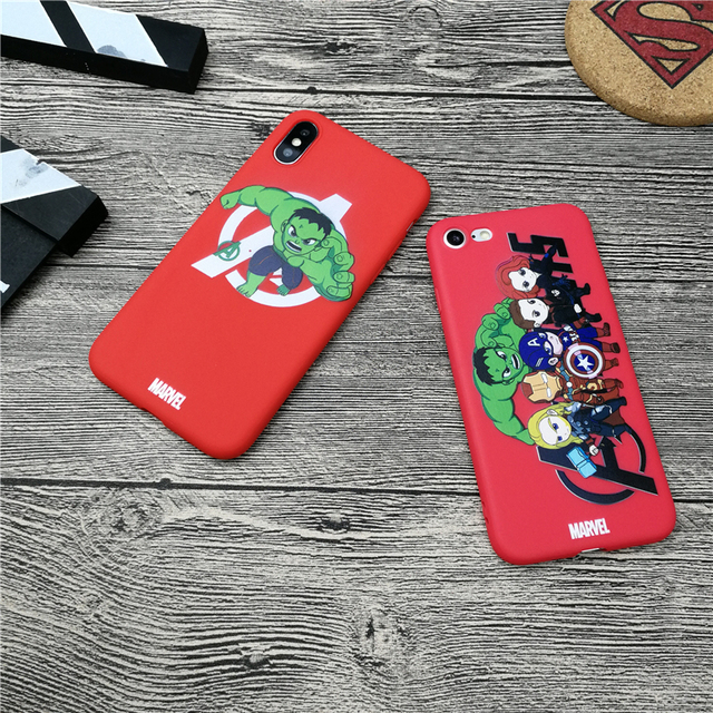 new arrival 39f92 bafb8 US $1.55 18% OFF Hulk film Avengers Marvel case for iphone X XS MAX XR 10 8  7 6 6S plus 5 5s se soft matte silicone phone cover Coque fundas capa-in ...