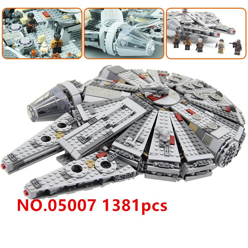 Фотография LEPIN 05007 Star Wars series one thousand eagles assembled the force to hold educational building blocks toy gift Compatible
