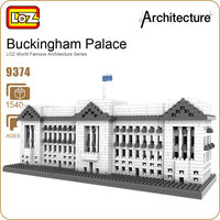 LOZ Diamond Blocks Buckingham Palace World Famous Architecture Building Blocks City Diy Toys Plastic Assembly Bricks Model 9374