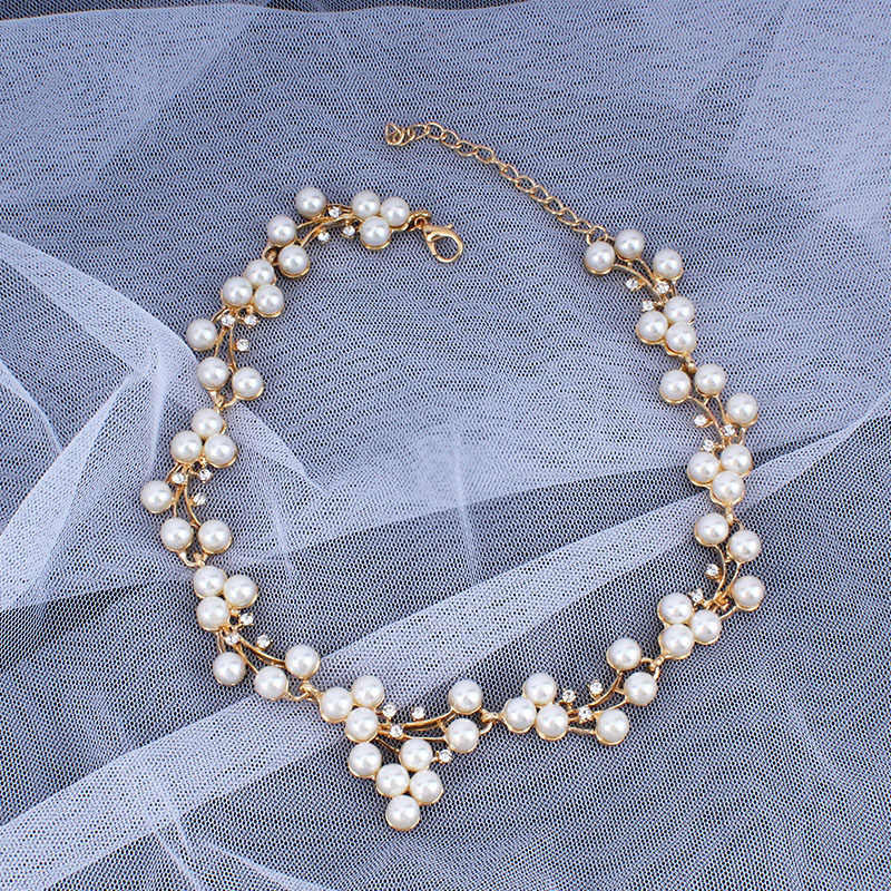 jiayijiaduo Imitation Pearl wedding jewelry  Necklaces For Women bridal african beads jewelry set crystal  fashion jewelry set