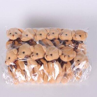 Mini urso de pelúcia de 12 pçs/lote 12cm, boneco de urso de pelúcia, presente pequeno para festa, presente de casamento, pingente de pelúcia fofo boneca boneca,