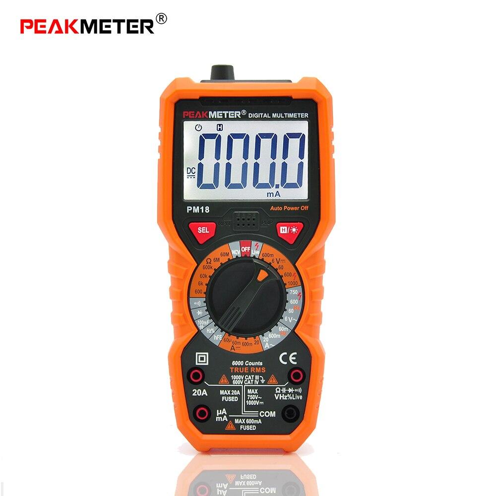 PM18C/PM18 multimètre numérique multimètres tester profissional Tension Capacité Fréquence Température hFE PCI Ligne Testeur
