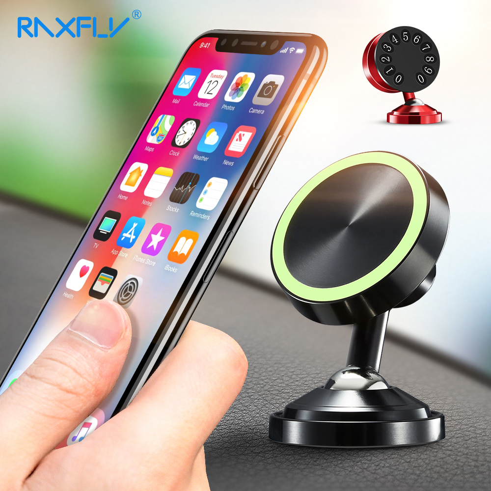 RAXFLY Magnet Car Phone Holder For iPhone X 8 7 Plus 6S 6 Plus 5S 5 Se Car Holder Smartphone For Samsung S9 S8 Plus S7 S6 Edge