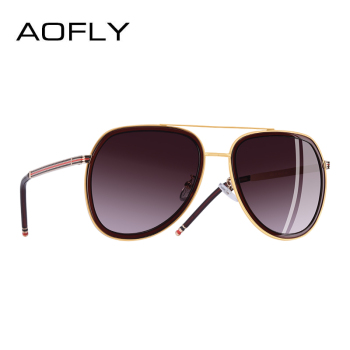 AOFLY BRAND DESIGN Polarized Pilot Sunglasses Men Women Sunglasses Metal Frame Oval Lens Eyewear UV400 A122