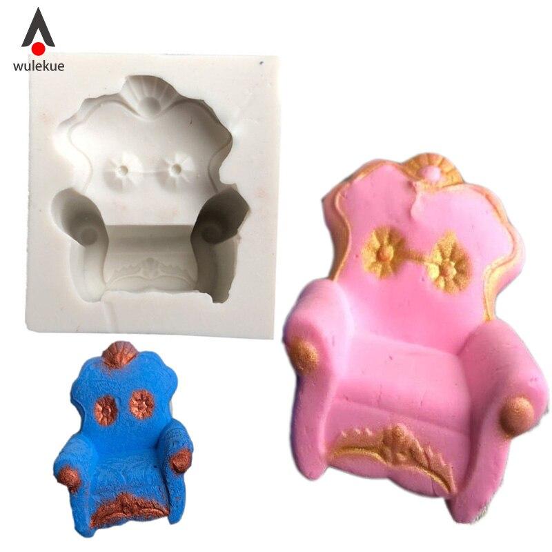 Symbool Van Het Merk Wulekue Siliconen Mini Sofa Vorm Cakevorm Chocolade Fondant Cookie Muffin Decoratie Bakvormen Mold Bakken Tools