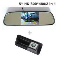 Dla Ford Focus Mondeo Fiesta Hatchback Sedan CHIA-X 100% Prawdziwe HD CCD backup Kamera + 5 cal samochodów lustro monitor TFT LCD 800*480