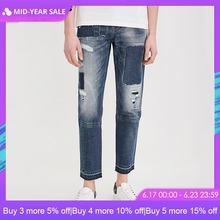 Jack Jones Spring & Summer Men Jeans Slim Fit Crop Biker Jeans Denim Jeans Men |218132519