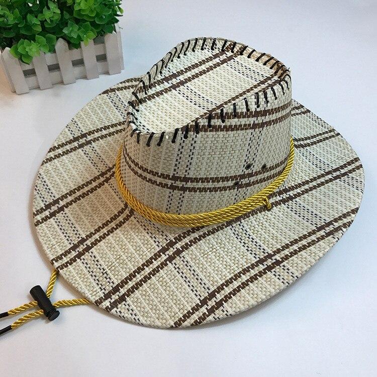 Intelligent Handarbeit Sommer Frauen Männer Westlichen Stroh Cowboy Hut Für Gentleman Wide Brim Boater Panama Jazz Hüte Pate Sombrero Kappe