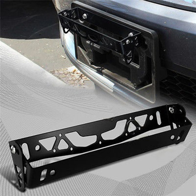 1pc חדש רב צבע אוניברסלי אלומיניום רכב JDM סטיילינג לוחית רישוי מסגרת מסגרת תג מחזיק כוח רישיון צלחת מסגרות