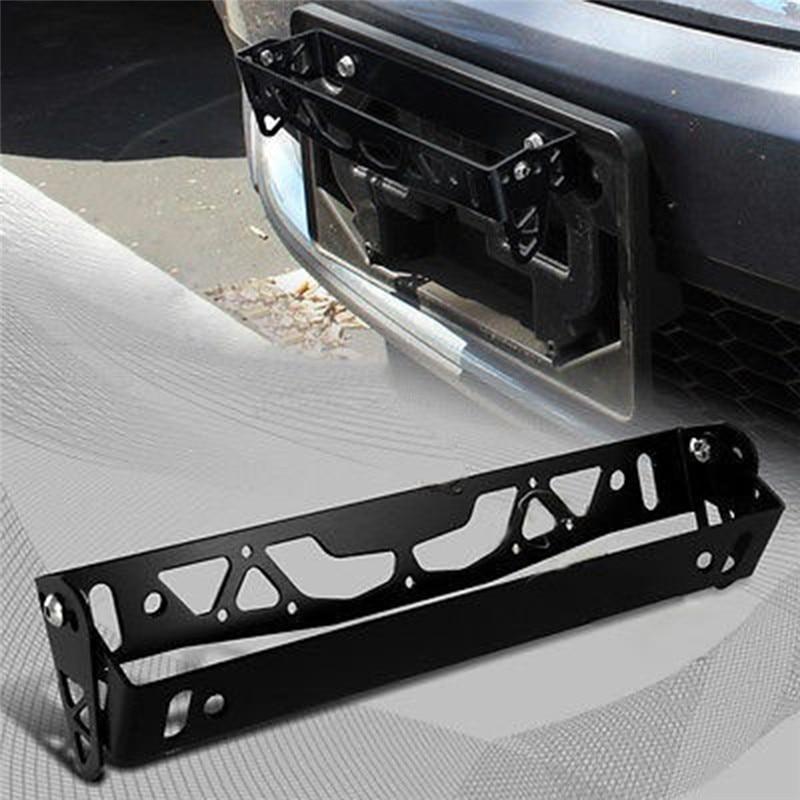1pc Nuovo Multi Colore Universale Per Auto In Alluminio JDM Styling License Plate Frame Telaio Tag Porta di Alimentazione Cornici Targa
