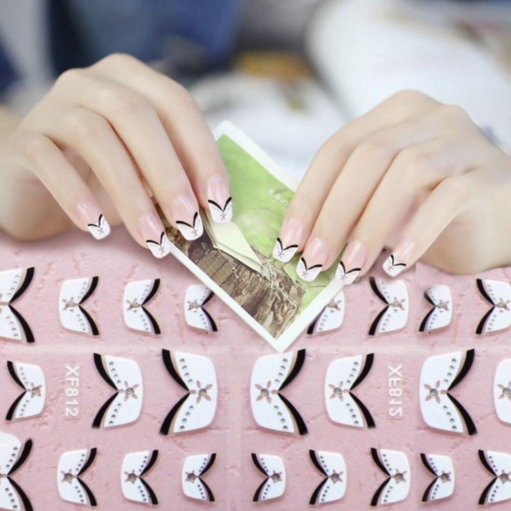 15pcs French Style Beauty Nail Art Stickers Manicure