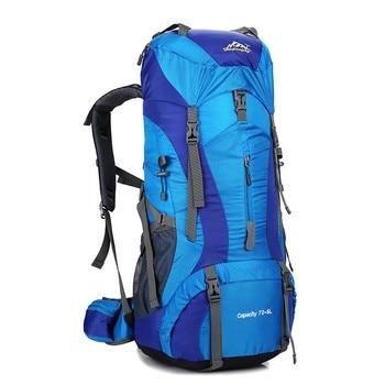 70L Large Capacity Male Backpack Waterproof Rucksack for Hike Travel Bag Backpacks Mochila Trekking Rucksacks Bagpack