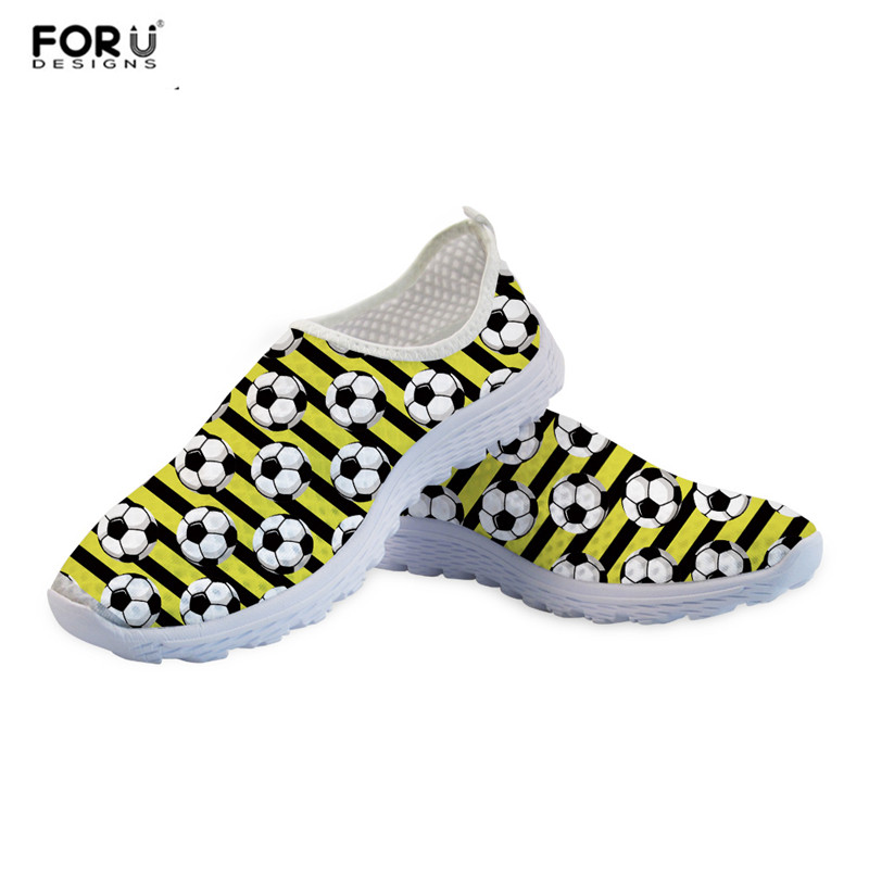 FORUDESIGNS Summer Flats Beach-Water Shoe Loafers Light Mesh-Sneakers Printed Slip-On