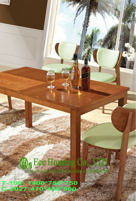 C-2027,T-106 Luxurious Solid Dining Chair,Solid Wood Dinning Table Furniture With Chairs/Home Furniture