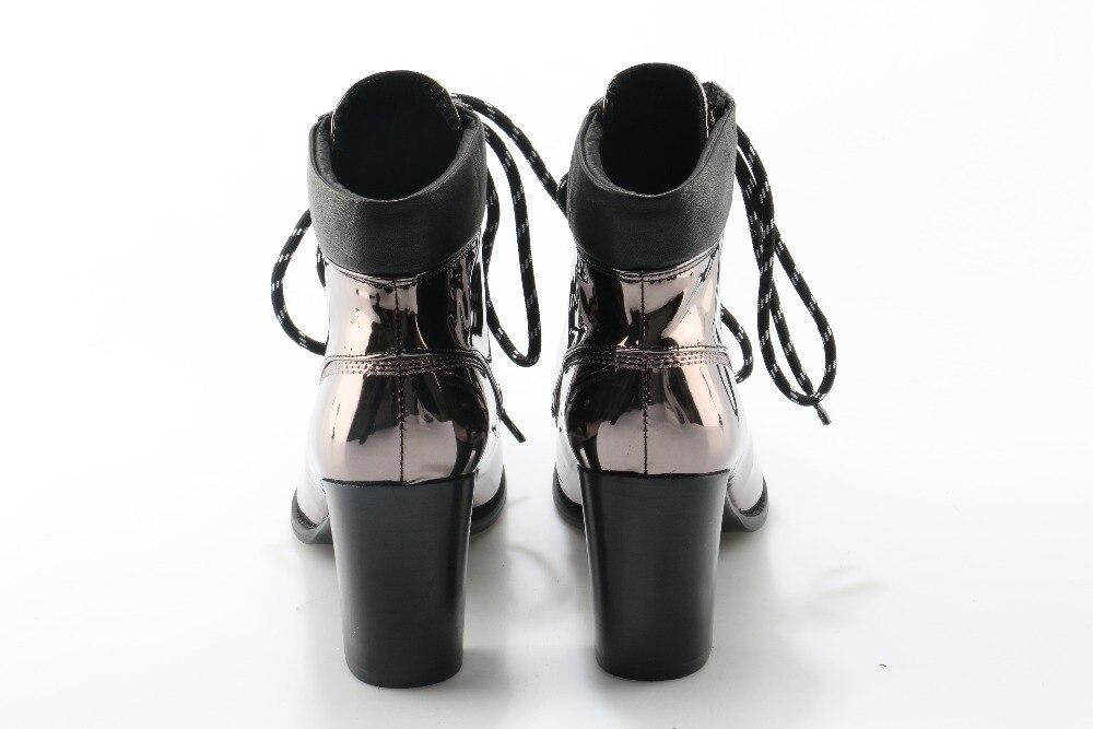 Verni Hauts Picture Chunky Talons Bottines Métallique Miroir Femme Chaussures En as Zobairou Chelsea As Ruban Dentelle Picture Dames Bottes Up Pluie Cuir Punk SwXxBdEdq
