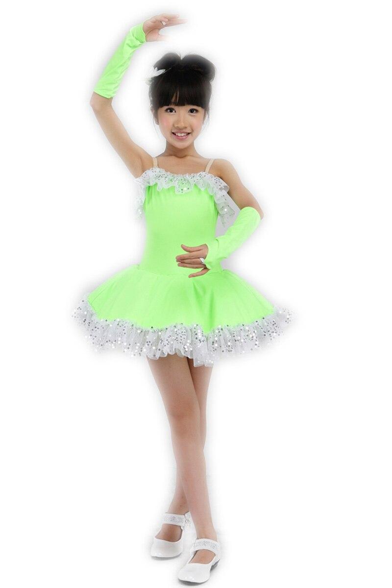 ᐂGreen Kids Dresses for Girls Kids Professional Ballet Tutu Child ...