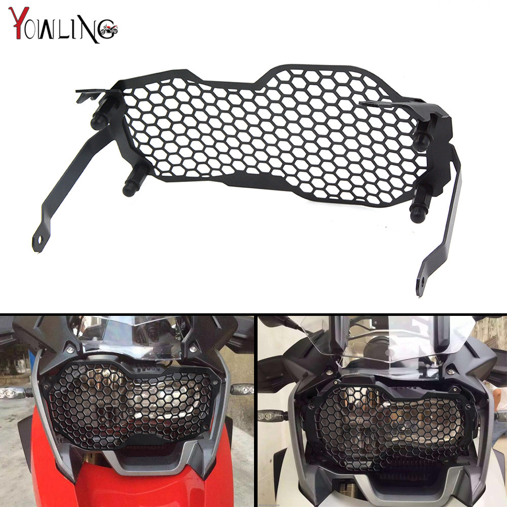 for BMW 1200 GS Headlight Grille Guard Cover Protector For BMW R1200 GS R1200GS ADV Adventure R1200 GS (Water Cooled) 2012-2016 motorcycle radiator grill grille guard screen cover protector tank water black for bmw f800r 2009 2010 2011 2012 2013 2014