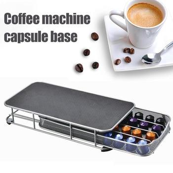 Metal Storage Bins   40 Coffee Capsule Cups Holder Storage Rack Drawer Machine Stand For Nespresso Scatola Di Immagazzinaggio BDF99