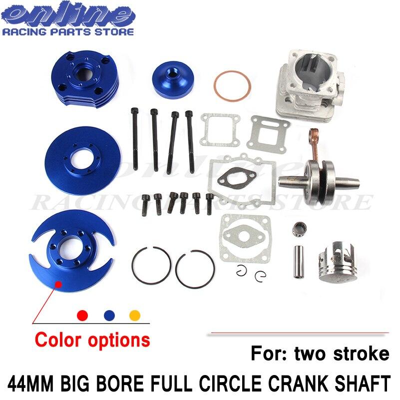 44mm accessoire course grand alésage 53cc 54cc haut Kit Piston 49cc 2 temps moteur poche vélo Dirt ATV moto groupe-5 - 2