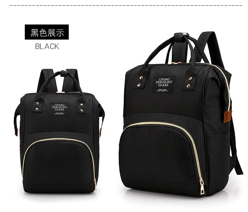 HTB1NUBfcRCw3KVjSZFuq6AAOpXaJ Large Capacity Mummy Bag Maternity Nappy Bag Travel Backpack Nursing Bag for Baby Care Women's Fashion Bag
