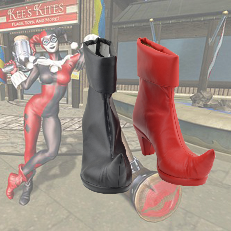 Harley Quinn Woman Cosplay Boots Batman Arkham Knight  Anime Suicide Squad Shoes