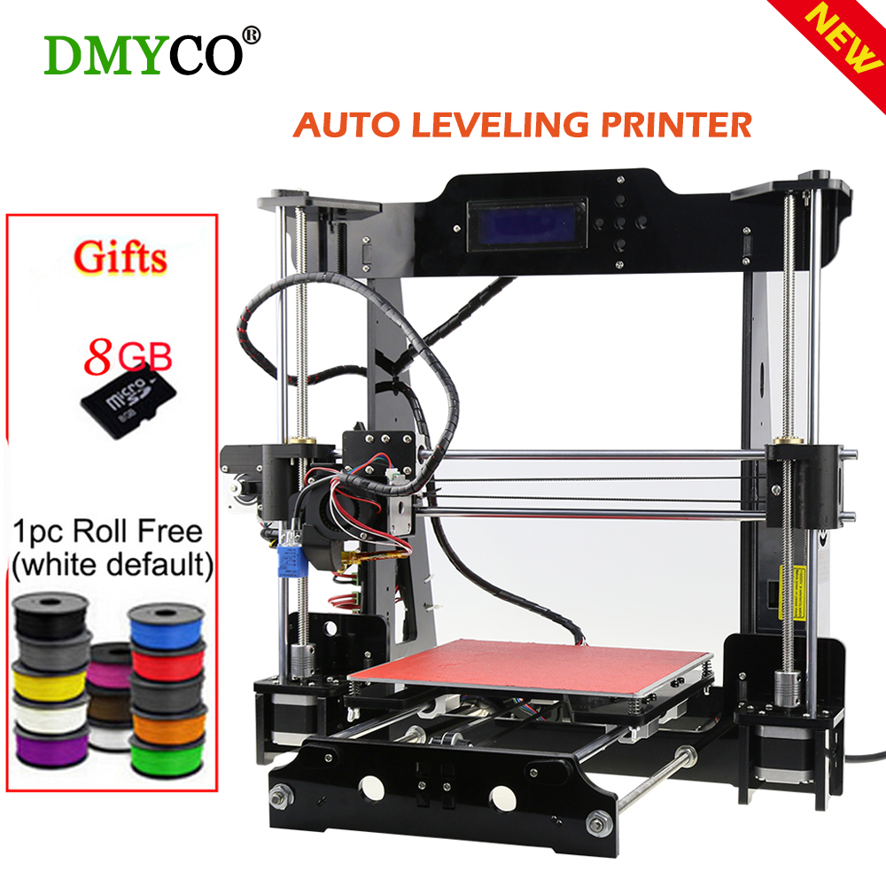 DMY High Precision Reprap Prusa i3 3d Printer DIY Kit Large Printing Area 220*220*240mm Matel Printer With Filament SD Card LCD anet a8 a6 3d printer high precision three dimension printing lcd screen reprap prusa i3 diy 3d printer kit filament 8g sd card