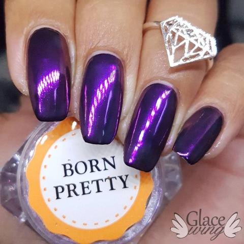BORN PRETTY 9 Boxes Mirror Nail Powder Gold Blue Purple Dust Manicure Nail Art Glitter Chrome Pigment Decoration Islamabad