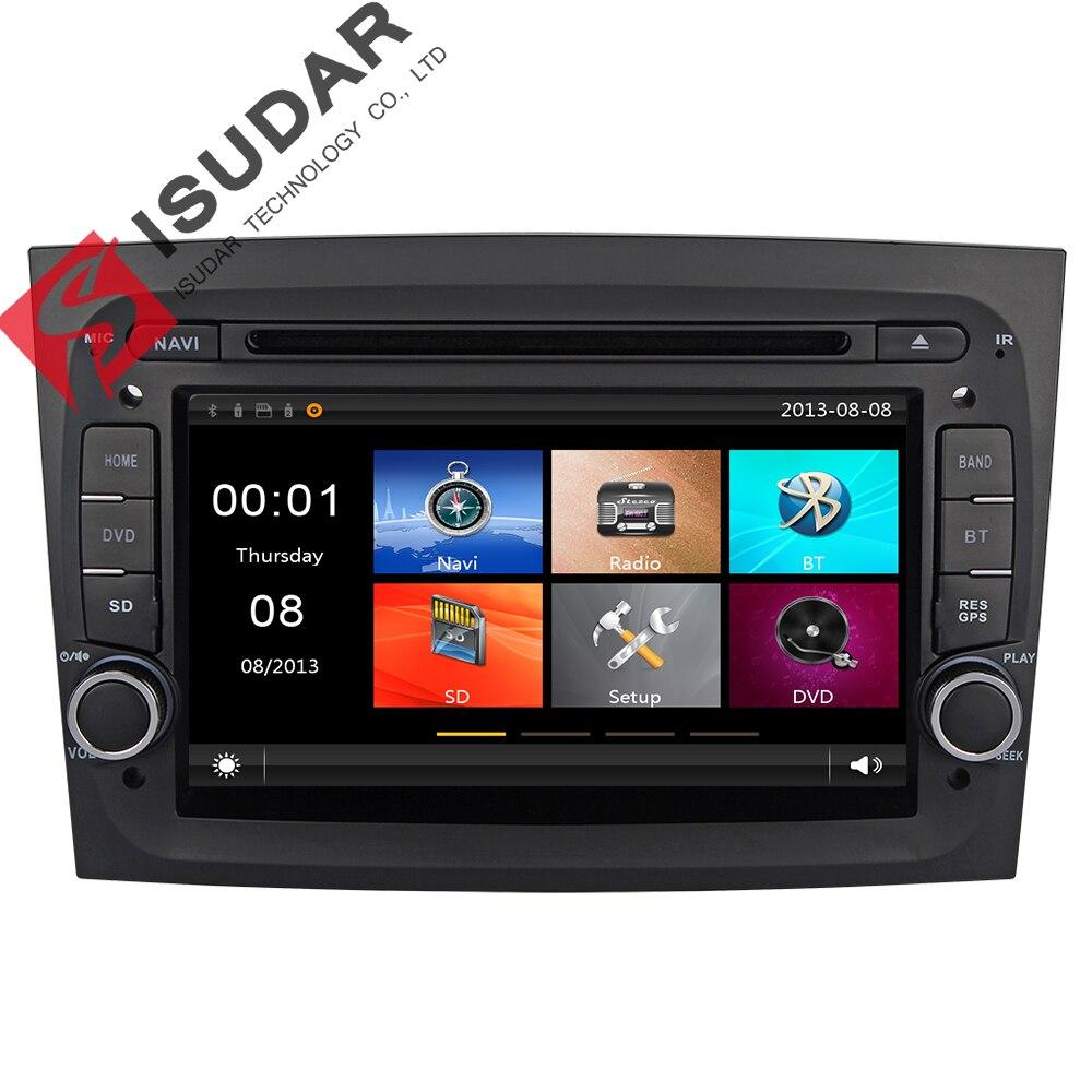 Isudar Car Multimedia Player 2 din car radio gps For Fiat/Doblo II 2015 Canbus Wifi Antenna Car DVD Player Microphone Map DVR FM