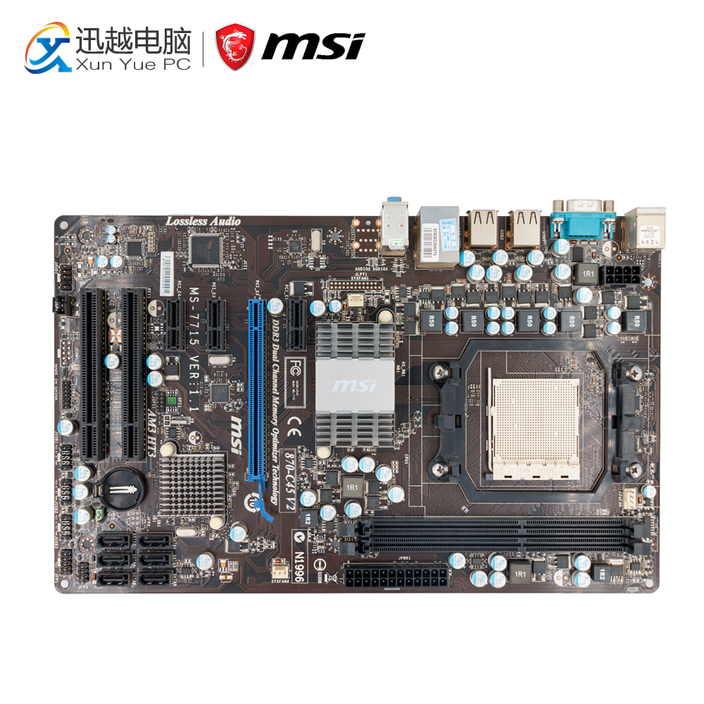 MSI 870-C45 V2 Desktop Motherboard 770 Socket AM3 DDR3 8G STAT2 USB2.0 ATX комплект постельного белья la noche del amor а 561