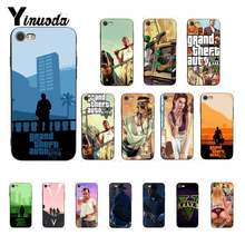 Yinuoda rockstar gta 5 Grand Theft Auto Protector สำหรับ iPhone 8 7 6 6S 6Plus X XS MAX 5 5S SE XR 11 pro max(China)