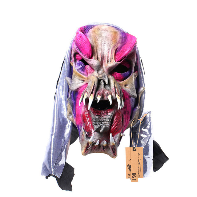 H&D Scary Creepy Ugly Monster Masks,Halloween Full Face Masquerade Cosplay Creepy Horror Mask,Latex 1