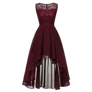Image 2 - 2020 wedding party dress suknia wieczorowa modna odzież krótki przód długi powrót ciemnoniebieski halter Bow sukienki druhen