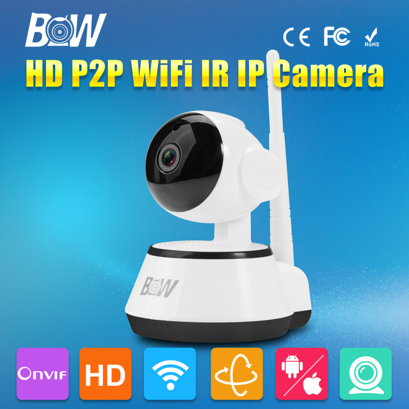 BW Mini Wifi IP Camera Wireless Two Way Audio Baby Monitor IR-Cut Night Vision Video Surveillance Security Camera Micro SD Card easyn a115 hd 720p h 264 cmos infrared mini cam two way audio wireless indoor ip camera with sd card slot ir cut night vision