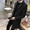 Homens de inverno de Médio-Longo casaco De Lã seção/design Ergonômico/Loose/Confortável/Magro/Manter aquecido/tamanho grande/4XL/tb211114