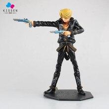Kissen One Piece Japanese Anime Vinsmoke Sanji Onepiece New World Chef Blackfoot Black Guns Movie Action Figure Toys PVC Model