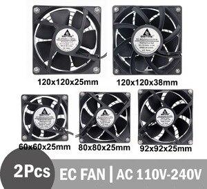 Image 1 - 2Pcs Gdstime  EC Brushless Fan Axial Fan 60mm 80mm 90mm 120mm PC Cooler AC 110V 115V 120V 220V 230V 240V EC Fan Computer Case
