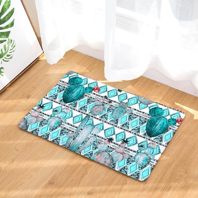 Cactus Pattern Door Mat