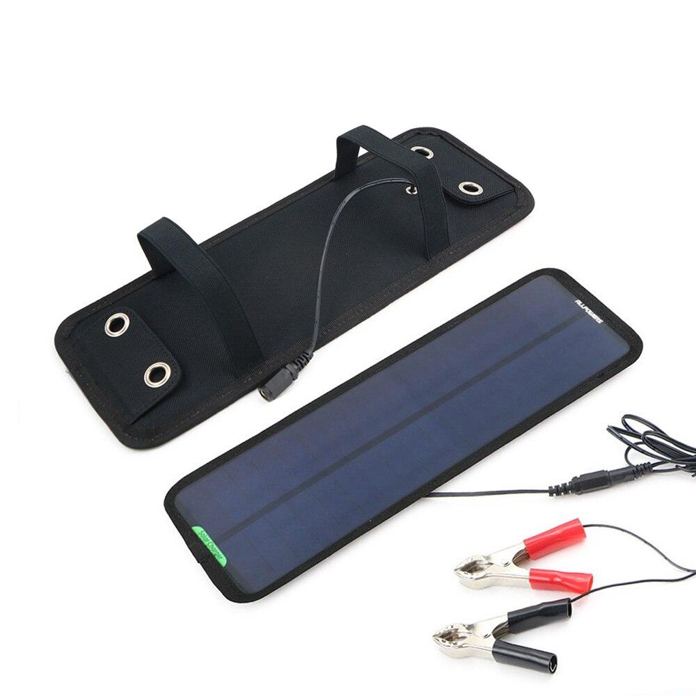 Portable Solaire Chargeur De Batterie de Voiture 18 V 7.5 W Solaire Puissance De Voiture Batterie Mainteneur pour Bateau De Voiture Véhicule Moto 12 V Batterie.