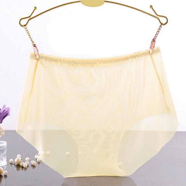 Varsbaby women's ultra-thin underwear low-rise lace briefs transparent panties